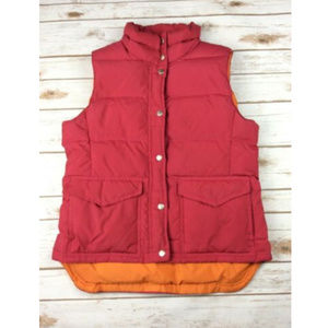 J. CREW Goose Down Puffer Vest Hot Pink